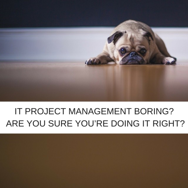 IT project management boring? Are you sure you're doing it right?